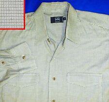 IKE By Ike Behar Mens Tan Linen Woven Button-Down Shirt Top L BHFO 8821