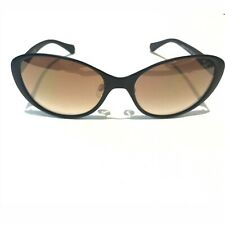 Kenneth Cole cateye oval women Sunglasses retro black matte metal kc7182 02G #1