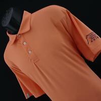 Mens Polo Ralph Lauren RLX Peach Wicking Short Sleeve Golf Polo Shirt Size XL