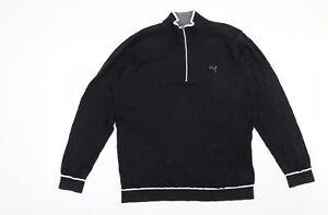 PUMA Mens Black   Pullover Jumper Size XL