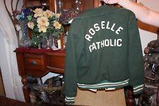 Vintage Roselle Catholic High School Wool Jacket 1960's Roselle New Jersey NJ