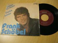"""7"""" Single Frank Schöbel Leben zu zwein / Danke schön Vinyl Amiga DDR 4 56 197"""
