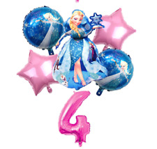 Ice princess 30 inches mylar balloon and set 4 with # 4