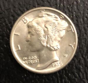 1935-P Mercury Dime - 90% Silver - Uncirculated