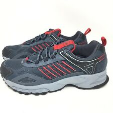 27f298d3a46ef New Adidas Mens Trail Running Shoes Sneakers Hiking Walking Gray Red Sz 6.5  M