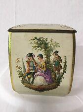 Edward Sharp & Sons Tin Box England Renaissance Madrigal Singers Design Vintage