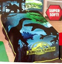 JURASSIC WORLD PARK DINOSAUR TWIN XL SIZE PLUSH BLANKET BED COVER ++BONUS GIFT