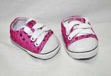 """Our Generation American Girl 18"""" Dolls Clothes Shoes Hot Pink Sequin Sneakers"""