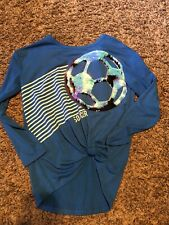 Nwt Justice Blue With Sequins Soccer Shirt Size 12