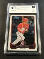 BRYCE HARPER 2012 BOWMAN CHROME DRAFT #10 ROOKIE CARD RC BGS BCCG GRADED 10