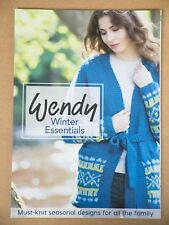 Wendy Winter Essentials Knitting Pattern Book 12 family Designs Fair Isle Cable