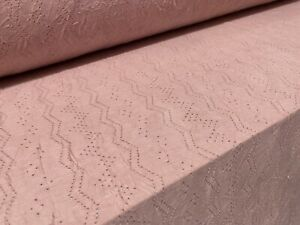 Pointelle Crush Single Jersey Dress Fabric, Per Metre - Rose Pink