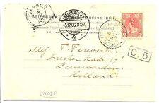 NEDERLAND SMN 1906-11-6  AK SABANG  = SHIP-S.S. ORANJE = -POSTAGENT-   F/VF