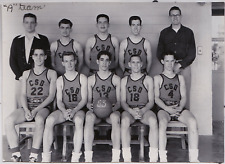 """Vintage photo the """"A"""" team, college basketball, young men, group portrait, gay"""