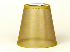 Lampenschirm  Aufsteck Gold Transparent für  Kronleuchter Wandlampe Gitter Netz