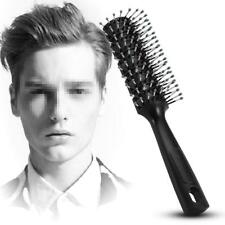 1x Fashion Men Hair Brush Ceramic Iron Round Comb Barber Dressing Salon Styling