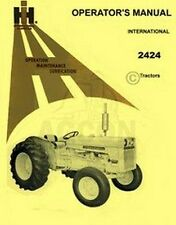 International 2424 Tractor Operators Instruction Manual