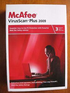 McAfee VirusScan Plus 2009 - 3 User