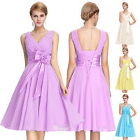 PLUS SIZE Short Wedding Bridesmaid Evening Party Cocktail Prom Homecoming Dress