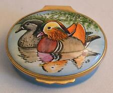 Halcyon Days English Enamels Mandarin Ducks Box