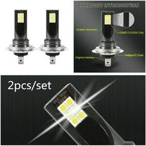 Pair H7 3030 LED 120W 6000K White Fog Light Driving DRL Bulb For Truck SUV Car