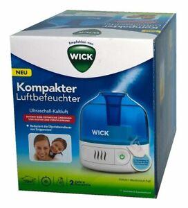 WICK WUL505 Cool Mist Luftbefeuchter Weiß/Blau 15 Watt, bis zu Raumgröße 10 m²
