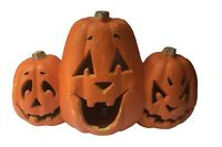 1998 The Paper Magic Group 3 JACK O LANTERN lighted foam HALLOWEEN Trio pumpkins