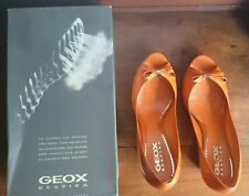 GEOX PATENT LEATHER WEDGE-ORANGE, SIZE 9