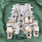UK MOLLE DPM Desert Camo Load Bearing Tactical Vest W/ 5 Pouches 1 Size Fits All