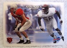 Brian Urlacher/Corey Moore RC 2000 Fleer Dominion Rookie Card-GEM MINT?-Bears