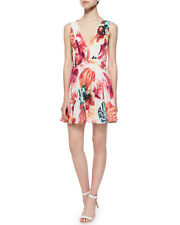 Alice + Olivia 'Cayden' Flared Stretch Silk Dress NWT $398