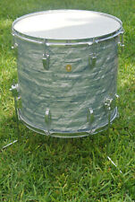 """1966 Ludwig 18"""" CLASSIC 3-PLY SKY BLUE PEARL FLOOR TOM for YOUR DRUM SET! #G52"""