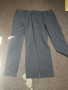 Next Boys School Trousers Age 10 Years Grey Slim Fit 140cm x 2  unused