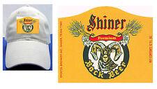 SHINER BOCK BEER LABEL BALL CAP