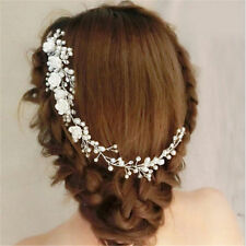 Wedding Bridal Hair Accessories Roses Comb Head Piece Pearls Clip Pin Bride