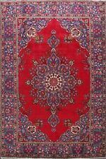 Medallion Hand-made Tebriz Area Rug For Living Room Traditional Carpet 7x10 ft