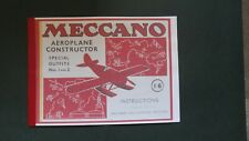 MECCANO AEROPLANE CONSTRUCTOR SPECIAL OUTFITS 1 AND 2 INSTRUCTIONS