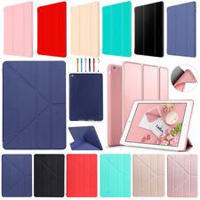 For iPad 2/3/4/5/6/7/8 Air Pro Mini Slim Leather Smart Case Silicone Back Cover