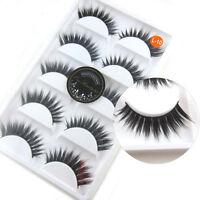 L10 5 pairs/lot 3D False eyelashes Thick Cross Natural fake eye lashes extension