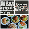 33Pcs/Pack Mini Dollhouse Kitchen Food Dishes Plate Model Serving Kids Toys Gift