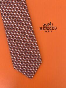 Hermes Mens Tie 100% Silk - Made In France (Brand New)
