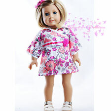 "ON Sale New Doll Clothe for American Girl Pink Kimono Dress 18"" Doll Clothe"