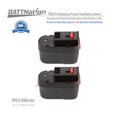 2x NEW 12V 1500mAh Ni-Cd Replacement Battery for Black & Decker HPB12FSB12FS120B
