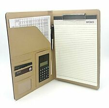 Executive Portfolio Folder Letter Size Writing Pad With Calculator & Card Holder