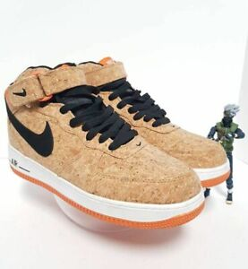 NIKE Mens Air Force 1 Mid Cork Basketball Shoes Multicolor 748282-100 2010 8.5 M