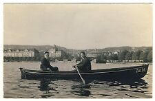 ZÜRICH Men Rowing on the Lake / Männer Rudern auf dem See * Foto-AK u 1920