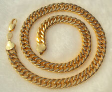 NEW HIP HOP SOLID 14K YELLOW GOLD 10MM MIAMI CUBAN LINK CHAIN NECKLACE 60 CM