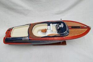 """Riva Aquariva 26"""" Quality Wood Model Boat L70 Beautiful Home Decor"""