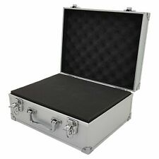 Small Hard Aluminium Flight Case Tool Storage Box Camera Photography DJ Foam