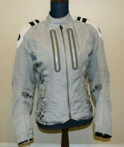 Joe Rocket Womens Small Motorcycle Jacket Mesh Textile w/ Liner and Pads Gray